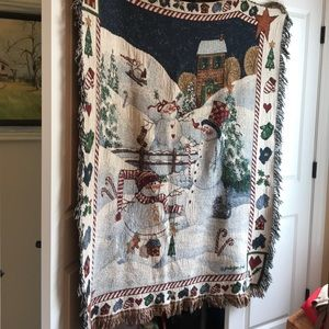 Other - Cotton Christmas Themed Throw